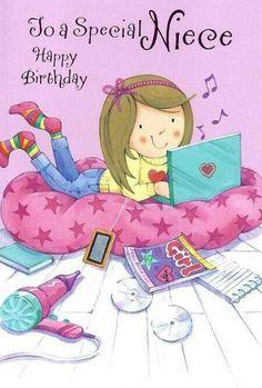 Birthday Quotes : Happy Birthday beautiful Niece of mine xx Happy Birthday Beautiful, Happy Birthday Images, Happy Birthday Greetings, Birthday Messages, Birthday Greeting Cards, 123 Greetings, Birthday Cards For Niece, Birthday Love, Husband Birthday