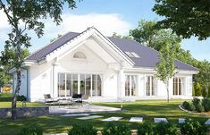 Village House Design, Village Houses, My House Plans, Small House Plans, Bungalow, Simple House Design, Colonial Style Homes, My Ideal Home, Cute House