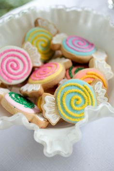 Sweet swirled candy cookies were also a big hit!  The sparkling sugar crystals made these cookies lots of fun!