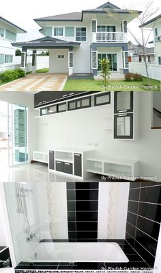 Classic Two Storey House Design with Three Bedrooms - House And Decors Two Story House Plans, Three Bedroom House, Two Storey House, Maximize Space, Bedrooms, Floor Plans, House Design, Flooring, Contemporary