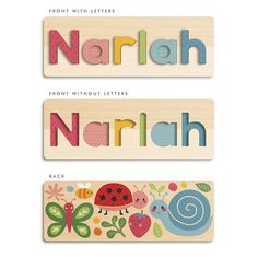Wooden Name Puzzle | Personalised Name Puzzles - Tinyme Learn To Spell, Pin Up Posters, Name Puzzle, Wooden Storage Boxes, Wooden Names, Finger Joint, Special Characters, Feeling Special, Fine Motor Skills