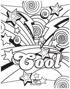awesome coloring pages for adults coloring fun for kids and grownups dazed 80s printable - Teen Color Pages