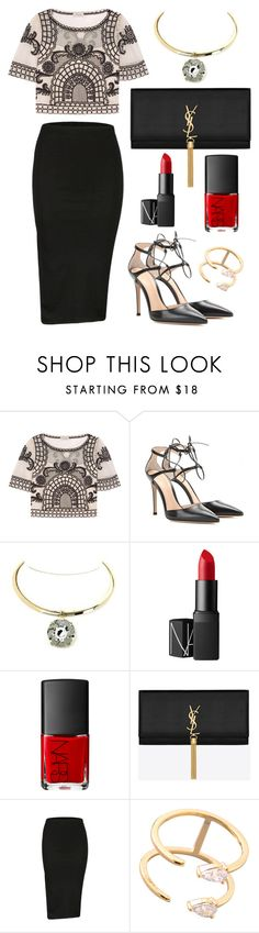 """Accessorize with Jewel Cult - Night Out"" by jewelcult ❤ liked on Polyvore featuring Temperley London, Gianvito Rossi, NARS Cosmetics and Yves Saint Laurent"