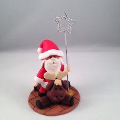 ilfilodelleidee: La banda dei Babbo Natale in fimo