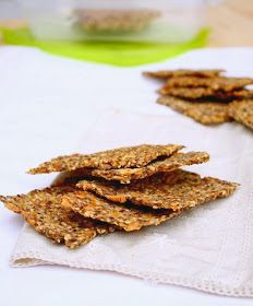 Nem acredito que é saudável!: Crackers de sementes (vegan) . Seed Crackers (vegan) Healthy Meals For Kids, Healthy Foods To Eat, Healthy Eating, Healthy Cookies, Clean Recipes, Healthy Recipes, Veggie Recipes, Wise Foods, Bowls