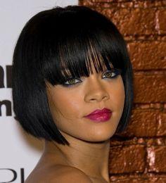 coiffure femme cheveux mi long carré avec frange
