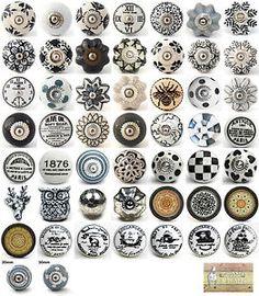 Black-white-grey-ceramic-knobs-drawer-pull-cupboard-door-knobs-porcelain-china
