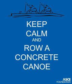 Row a concrete canoe
