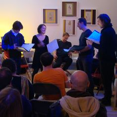 SLIPPERY Dec 2014 First Reading at BGSQD Red State, Dysfunctional Family, Frame Of Mind, Winter's Tale, Postmodernism, Youre Invited, Jealousy, Betrayal, America