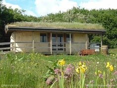 This is the straw bale classroom at the Carymoor Environmental Trust in Castle Cary, Somerset, England. More at www.naturalhomes.org/timeline/carymoor.htm