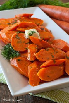 Fresh Carrots with Butter and Dill - there's just something about the combination of butter and dill with carrots that is SO good!