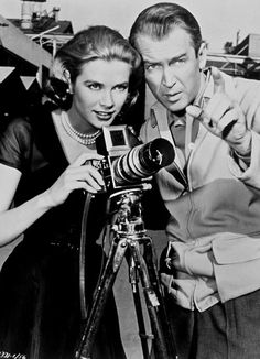 GRACE KELLY, with Jimmy Stewart and a Hasselblad