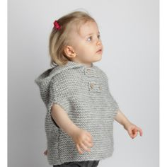 a garter stitch bulky wool poncho...cute and not too time consuming....