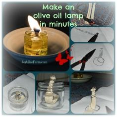 Make your own olive oil lamps