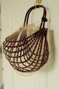 Unusual vintage 1940s folding framed string bag by dgbvintage, £40.00
