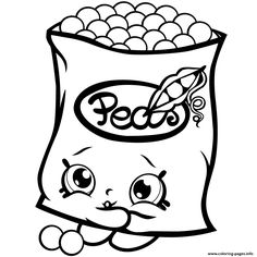 Print Freezy Peazy Shopkins Season 1 Peas Coloring Pages