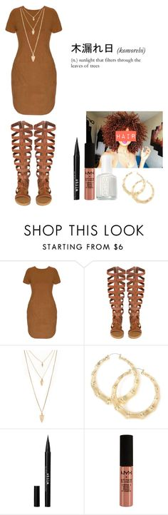 """....."" by loveme-143 ❤ liked on Polyvore featuring Forever 21, Stila, NYX, Essie, women's clothing, women, female, woman, misses and juniors"