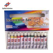 En71alta calidad caliente-venta 12colors * 12 ml profesional acuarela conjunto, Conjunto de pintura