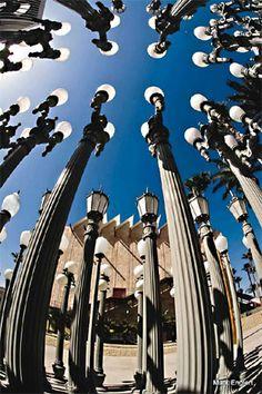 'Urban Light' sculpture at LACMA, Los Angeles by Chris Burden