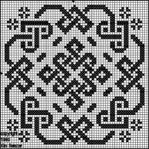 Biscornu celtic pattern Cross stitch, beads, filet crochet, lots of options Biscornu Cross Stitch, Celtic Cross Stitch, Cross Stitch Charts, Cross Stitch Designs, Cross Stitch Embroidery, Embroidery Patterns, Cross Stitch Patterns, Blackwork, Celtic Patterns