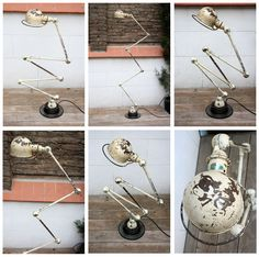 Jielde vintage amazing white lamp - french industrial mid-20th century - estudioballoon choices French Industrial, Industrial Loft, Loft Design, Wind Chimes, Objects, Interior, Outdoor Decor, Choices, Vintage