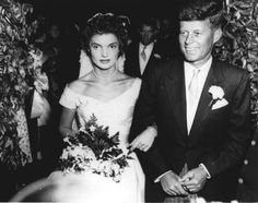 September 12, 1953- John F. Kennedy marries Jacqueline Lee Bouvier at St. Mary's Roman Catholic Church in Newport, Rhode Island