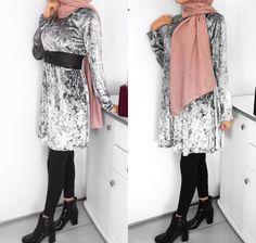 Pinterest: @adarkurdish Muslim Fashion, Hijab Fashion, Long Boots, Mode Hijab, Beautiful Outfits, Kimono Top, Classy, Style Inspiration, Clothes For Women