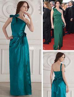 Green Floor Length One-Shoulder Elastic Woven Satin Cannes Film Festival Dress. Green Floor Length One-Shoulder Elastic Woven Satin Cannes Film Festival Dress. See More Cannes Film Festival Dresses at http://www.ourgreatshop.com/Cannes-Film-Festival-Dresses-C901.aspx