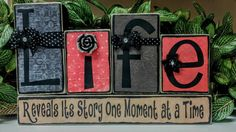 Check out this item in my Etsy shop https://www.etsy.com/listing/281798308/life-wood-blocks