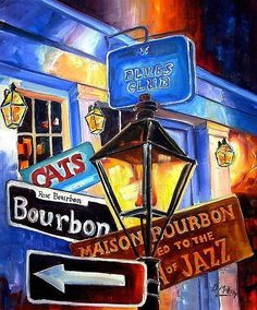Bourbon St/New Orleans
