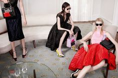 Julia Nobis, Fei Fei Sun, Helena Severin and Kasia Jujeczka by Willy Vanderperre for Dior Fall 2014 Campaign.
