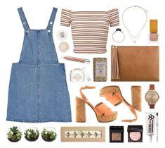 """Victorian Honey"" by sophiehackett ❤ liked on Polyvore featuring Miss Selfridge, Monki, Topshop, H&M, Olivia Burton, Habit Cosmetics, NARS Cosmetics, ALDO, Fresh and Nine West"