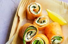 Smoked Salmon wraps  From The Sugar Free Revolution