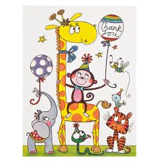 Buy Rachel Ellen Giraffe Thank You, Pack of 5 | John Lewis
