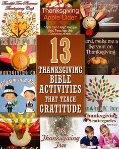 13 Thanksgiving Bible Activities that Teach Gratitude