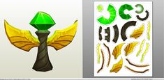 Papercraft .pdo file template for League of Legends - Wards.