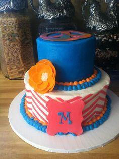 First Chevron Cake