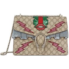 Gucci Dionysus Lips Shoulder Bag (12,075 SAR) ❤ liked on Polyvore featuring bags, handbags, shoulder bags, beaded purse, sequin purse, gucci purse, gucci shoulder bag and canvas shoulder bag
