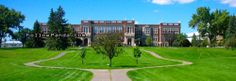 Corbett Hall & Corbett Quad in Summer | University of Alberta Campus Photo - Edmonton, Alberta, Canada | FollowPanda.COM