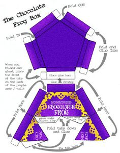Harry Potter Chocolate Frog Box Template