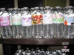 kids can make motivational labels on water bottles as a service project for others