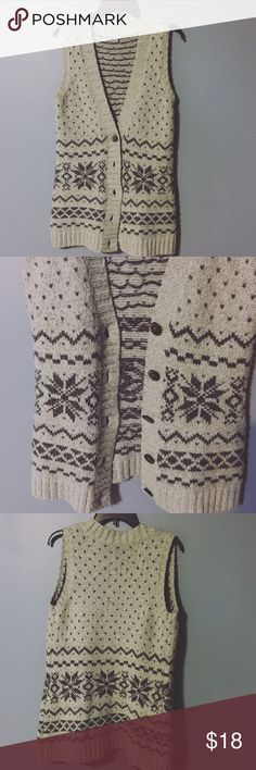 J. Jill Sweater Vest This vest is perfect for the holidays and winter events! In great condition! Gray and navy blue. Love the snowflakes!! J. Jill Sweaters Cardigans