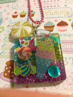 Kawaii Candy Resin Necklace  by LillieEllieEnchanted on Etsy, $7.00