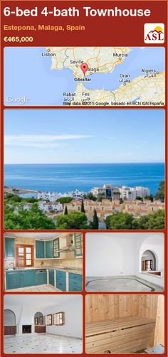 Townhouse for Sale in Estepona, Malaga, Spain with 6 bedrooms, 4 bathrooms - A Spanish Life Murcia, Malaga Spain, Marble Floor, Private Garden, Jacuzzi, More Pictures, Beautiful Gardens, Townhouse, Coastal