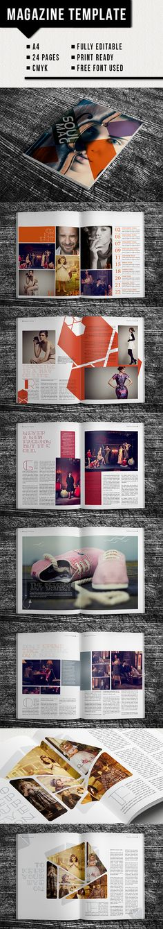 InDesign Magazine Template - Magazine template that can be used for any type of…
