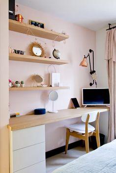 Study Room Decor, Living Room Decor, Home Room Design, Living Room Designs, Home Studio Desk, Pc Table, Boys Desk, Bureau Design, New Room