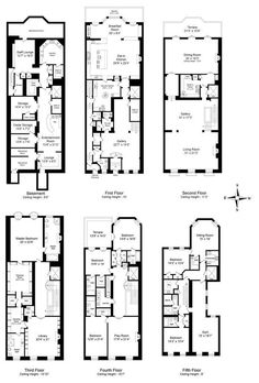 Historic brownstone floor plans brownstone pinterest townhouse single family home for sale at 16 east street new york new united states malvernweather Images