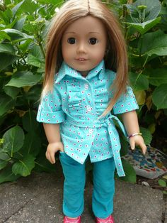American Girl Doll Clothes  Terrifically Teal 2 by AccordingtoEmma, $27.00