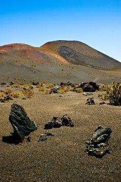 Paisaje volcánico en Timanfaya - Lanzarote, Islas Canarias, (Canary Islands), Spain