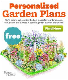 Personalized Garden Plans ~ We'll help you determine the best plants for your landscape, sun, shade and climate. A specific garden plan for every need!